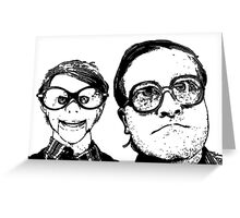 Bubbles and Conky Greeting Card