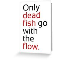 Dead Fish black/red Greeting Card