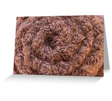 Burlap Salvage Rosette Macro Greeting Card