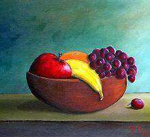 Fruit Bowl by vilma gonzalez