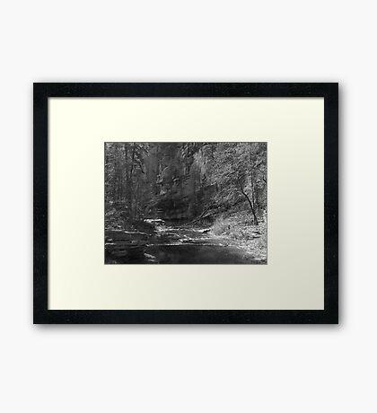 Oak Creek, Arizona (B&W) Framed Print