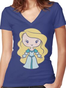 Odette - Lil' CutiE Women's Fitted V-Neck T-Shirt