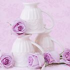 My Favorite Cream Lace Mugs by Sandra Foster