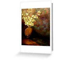 Orchids In A Chinese Vase Greeting Card