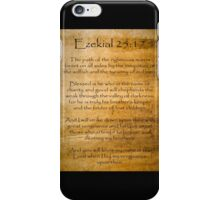 Ezekial 25:17 (Reliced Background) iPhone Case/Skin