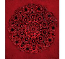 Doily Joy Mandala- Deep Roots Photographic Print
