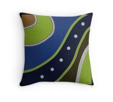 GREEN and BLUE art, modern ABSTRACT Throw Pillow