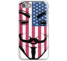 Guy Fawkes American Flag iPhone Case/Skin