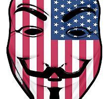 Guy Fawkes American Flag by Grim-Dork