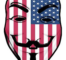 Guy Fawkes American Flag by Grim-Dork