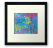 Pastel Pattern Framed Print