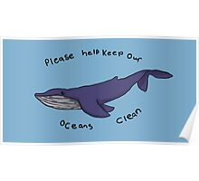 Whale Message Poster