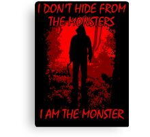 I Am The Monster Canvas Print