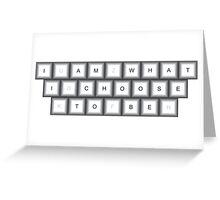 Metallic Keyboard with Message Greeting Card