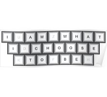 Metallic Keyboard with Message Poster