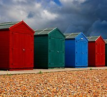 Beach Huts by jwwallace