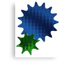 Spike Stars Blue and Green Canvas Print