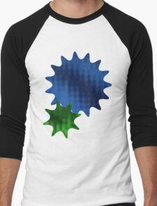 Spike Stars Blue and Green Men's Baseball ¾ T-Shirt