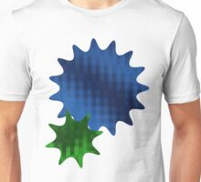 Spike Stars Blue and Green Unisex T-Shirt