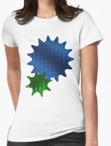 Spike Stars Blue and Green Womens Fitted T-Shirt