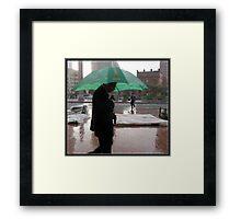 Green Umbrella Framed Print
