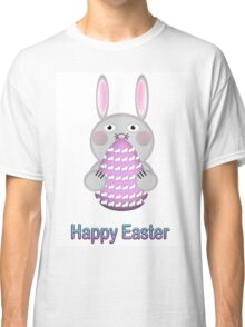 Happy Easter Bunny Rabbit with Easter Egg Classic T-Shirt