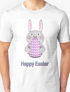 Happy Easter Bunny Rabbit with Easter Egg Unisex T-Shirt