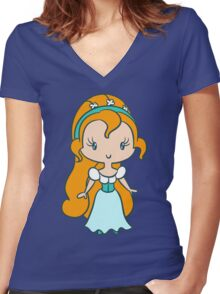Thumbelina - Lil' CutiE Women's Fitted V-Neck T-Shirt