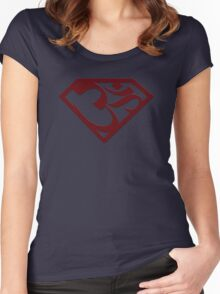 "Superman with ""Om"" symbol Women's Fitted Scoop T-Shirt"