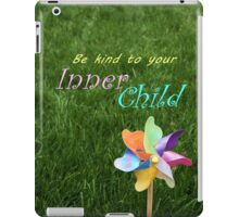 Inner Child Pinwheel Inspirational message childhood spirit iPad Case/Skin