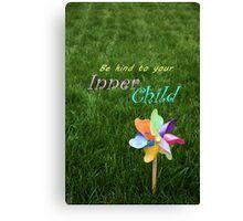 Inner Child Pinwheel Inspirational message childhood spirit Canvas Print