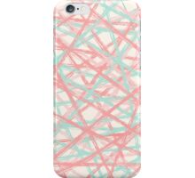 Mint & Coral lines iPhone Case/Skin