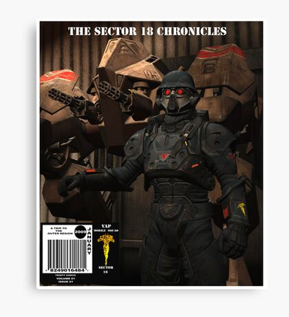 SCI FI    COMIC    COVER Canvas Print