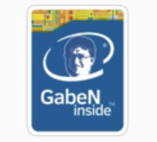 Gaben Inside Sticker - Intel Parody by georz