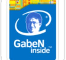 Gaben Inside Sticker - Intel Parody Sticker
