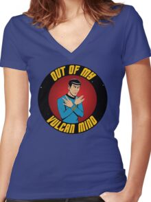 """Out of my Vulcan Mind"" by The Blasted Tower Women's Fitted V-Neck T-Shirt"