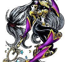 Sakuyamon - Digimon inspired art by AderynValentine