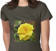 Petals of Gold - Radiant Rose Beauty Womens Fitted T-Shirt
