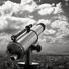Telescope, Eiffel Tower, Paris, 2008 by Jerry Carpenter