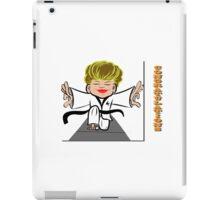 Black Belt Martial Arts lady iPad Case/Skin