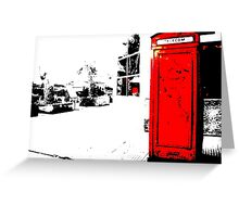 red box Greeting Card