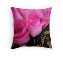 LEOPARD ROSES  Throw Pillow