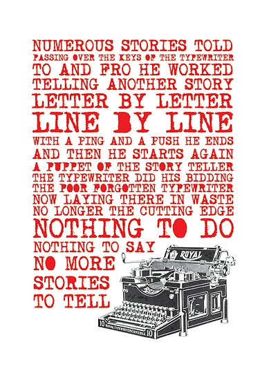Tale of a Typewriter by Simon Greening