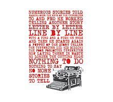 Tale of a Typewriter Photographic Print