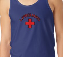 Red Lifeguard Clothing Tee Tank Top