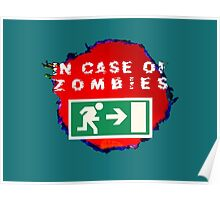 In Case of Zombies (green background) Poster