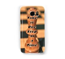 One Step at a Time Humorous Chess Quote Samsung Galaxy Case/Skin