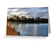 Brickfield Pond Rhyl HDR Greeting Card