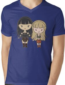 Xena & Gabrielle - Lil' CutiEs Mens V-Neck T-Shirt