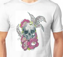 Skull And Peonies Unisex T-Shirt